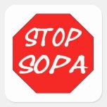 Pare SOPA Pegatina Cuadrada