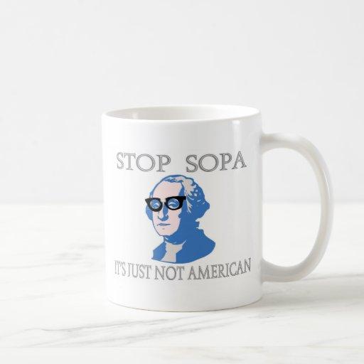 Pare SOPA que no es apenas americano Taza