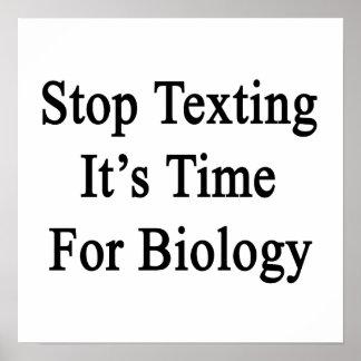 Pare Texting que es hora para la biología Impresiones