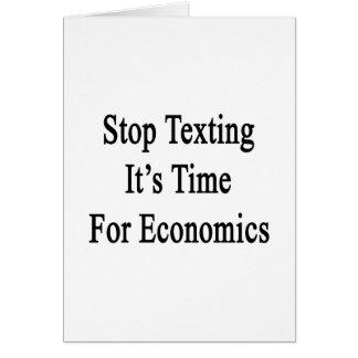 Pare Texting que es hora para la economía Tarjeta De Felicitación