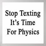 Pare Texting que es hora para la física Impresiones