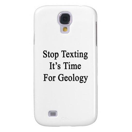 Pare Texting que es hora para la geología