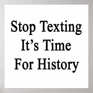 Pare Texting que es hora para la historia Impresiones