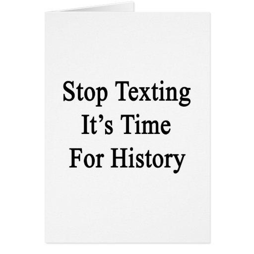 Pare Texting que es hora para la historia Tarjetas
