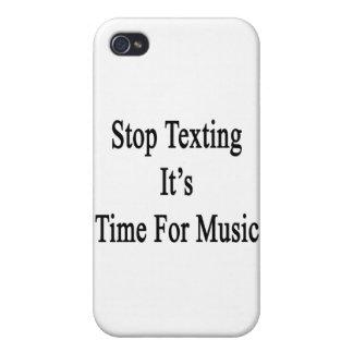Pare Texting que es hora para la música iPhone 4 Coberturas