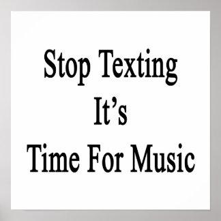 Pare Texting que es hora para la música Posters