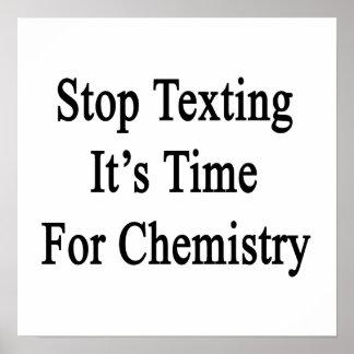 Pare Texting que es hora para la química Poster