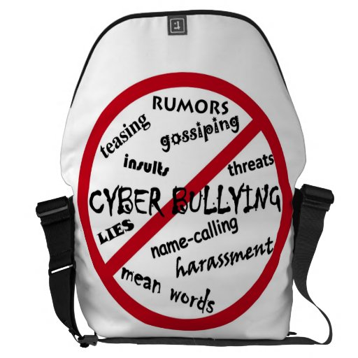 Pare tiranizar cibernético bolsas de mensajería