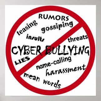 Pare tiranizar cibernético poster