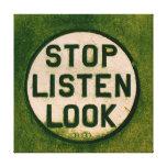 Pare y escuche impresion de lienzo