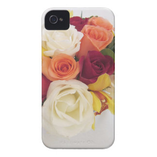 Pare y huela el cuaderno de los rosas carcasa para iPhone 4