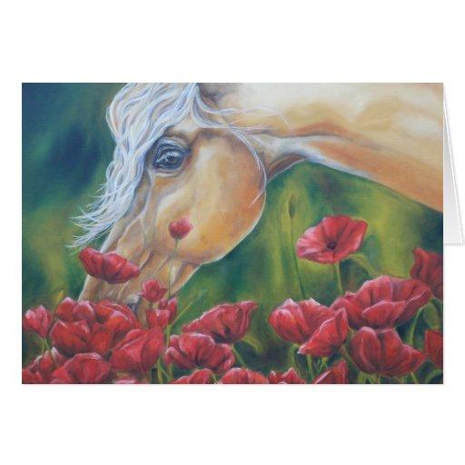Pare y huela los rosas felicitación