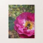 Pare y huela los rosas puzzles con fotos