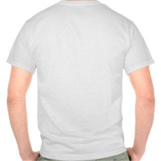 Pare y piense en los conejos camisetas