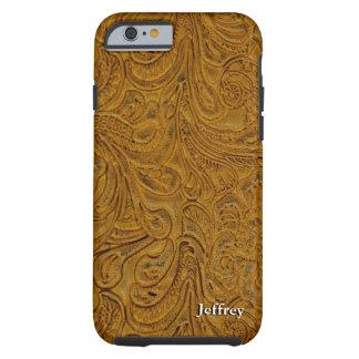 Parece Brown equipó el cuero personalizado Funda De iPhone 6 Tough