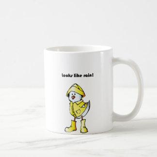 Parece dibujo animado del pollo del pato de la taza