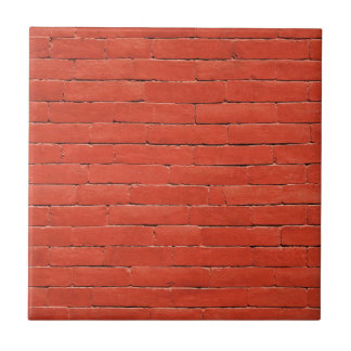 Pared anaranjada roja azulejo cuadrado pequeño