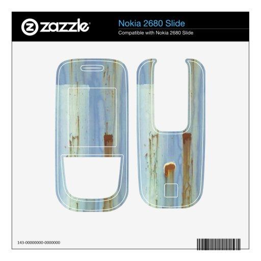 Pared azul del metall nokia 2680 slide calcomanía