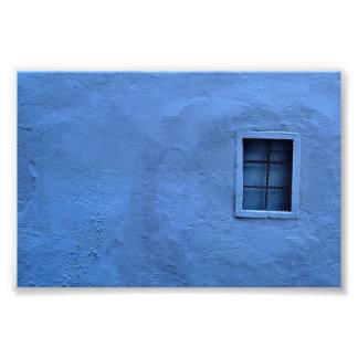 Pared azul - impresión de la foto
