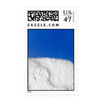 Pared blanca azul tradicional de Alentejo Sellos Postales