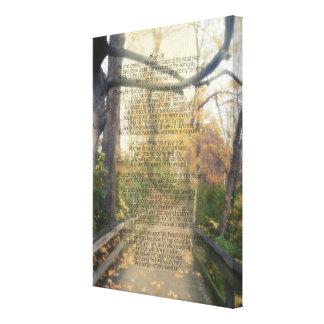 Pared cristiana del verso de la biblia de la foto impresión en lienzo
