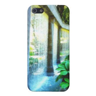 Pared de agua en paraíso del jardín iPhone 5 protectores