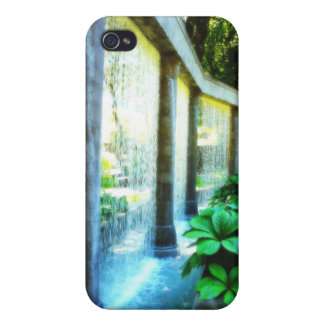 Pared de agua en paraíso del jardín iPhone 4 funda