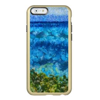 Pared de agua masiva que entra precipitadamente funda para iPhone 6 plus incipio feather shine