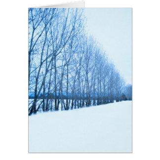 Pared de árboles tarjeta de felicitación
