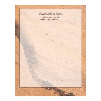 Pared de la arena de la playa plantilla de membrete