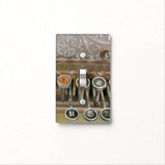 Pared de la caja registradora del vintage/cubierta placas para interruptor