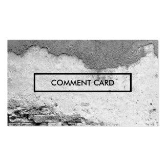 pared de la ciudad de la tarjeta del comentario tarjetas de visita