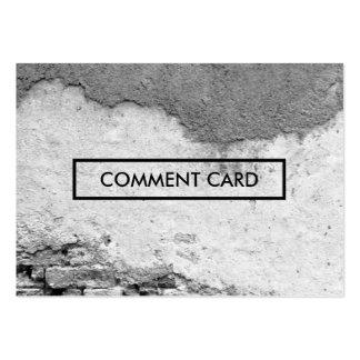 pared de la ciudad de la tarjeta del comentario tarjetas de visita grandes