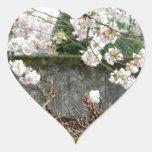 Pared de la flor pegatina en forma de corazón