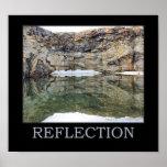 Pared de la roca de la reflexión en el agua 3 insp posters