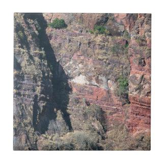 Pared de la roca en Etiopía Azulejo Cuadrado Pequeño