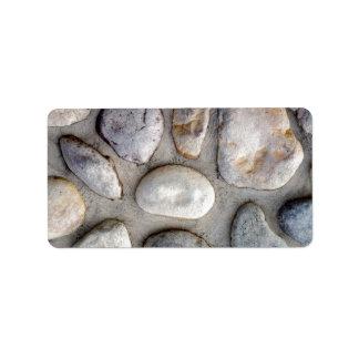 Pared de la roca etiqueta de dirección