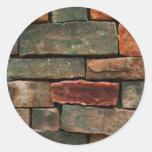 Pared de la roca etiquetas redondas