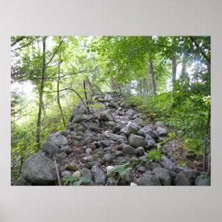 Pared de la roca impresiones