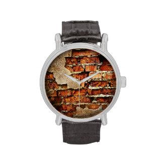 Pared de ladrillo auténtica (modelos múltiples) relojes