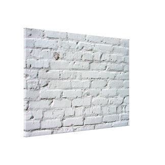 Pared de ladrillo blanca lona envuelta para galerías