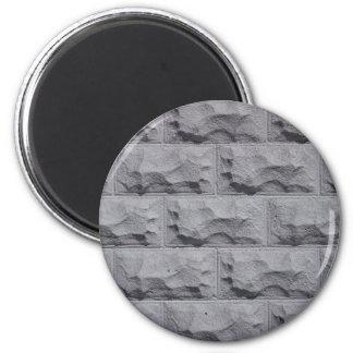 Pared de ladrillo blanca texturizada imán