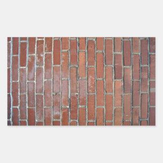 Pared de ladrillo brillante con la variación rectangular pegatina