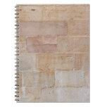 Pared de ladrillo color nata vieja cuadernos