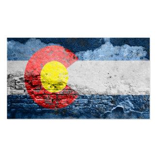 pared de ladrillo de la bandera de Colorado Tarjetas De Visita