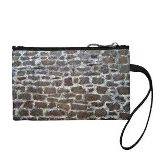 Pared de ladrillo de piedra vieja con el mortero
