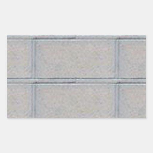 Pared de ladrillo decorativa artística gris pegatina rectangular