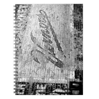 Pared de ladrillo del vintage de Ann Arbor Libro De Apuntes