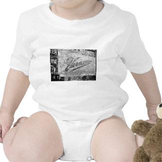 Pared de ladrillo del vintage de Ann Arbor Trajes De Bebé