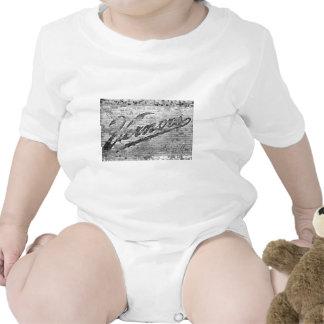 Pared de ladrillo del vintage de Ann Arbor Traje De Bebé